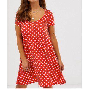 Dresses & Skirts - Red Polka Dot Dress
